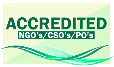 Accredited NGO's CSO's PO's